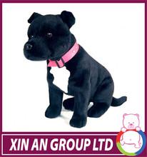 EN71/ASTM Hot selling good quality soft plush stuffed toy black dog