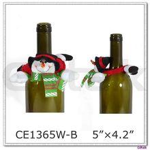 2015 Newest Plush Snowman Bottle Decoration