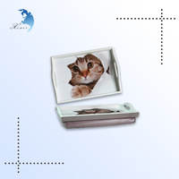 2014 Custom New design Wooden Antique Serving Tray,Photo Printing Decorative Tray