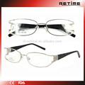 Marcos ópticos baratos gafas con diamantes para la señora china( wd- 094)