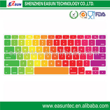 Rainbow keyboard protector for laptop