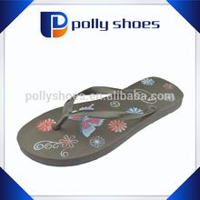 Flower printing one dollar new model slipper promotion
