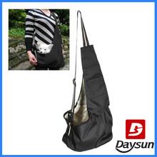 Black Oxford Cloth Sling Dog Carrier Bag