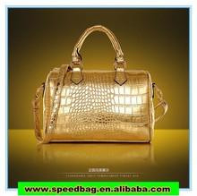 The new 2014 luxury crocodile grain shoulder bag pu handbag