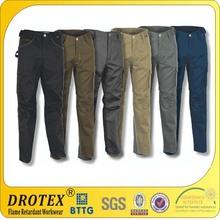 Durable EN11611, EN11612 HRC2 Cotton FR Pants for Danger Work