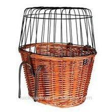Wicker cruiser pet bicycle basket,bicycle dog carrier