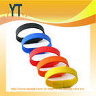 Promotional Gift Item Rainbow Colorful Silicon Wristband/ Bracelet Usb Flash Drive From China Supplier