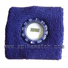 On sale basketball tennis sports sweat wristband with watch