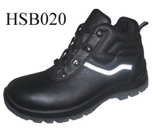SM, PPE factory middle cut iron-worker tough condition safety shoes reflection stripe