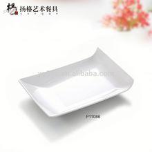 unico a forma di quadrato piattoin melamina con maniglia