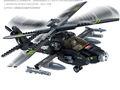 Bloque de construcción ah-64 apache helicóptero de combate 293 pc compatible con juguetes de la marca