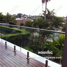 Frameless glass balustrade with HFG-14D for your terrace/balcony/veranda