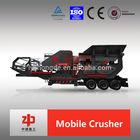 Mobile impact crusher, HX coarse crushing series wheel mobile crushing station