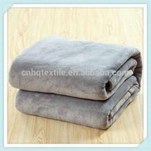 fleece Blanket Throw Super Soft Fleece Full Queen Blanket Pinzon Velvet Plush Blanket, Full/Queen, Grey