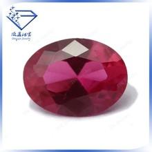 AAAAA High Qulity Oval Cut 3# Ruby Red Corundum Smooth Loose Gemstone