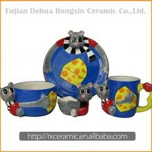 Factory Direct Sales Ceramic Cartoon children porcelain dinner set