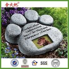 Pet Paw Print Garden Memorial Stone by Cher Bear Decor