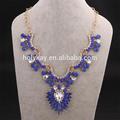 2014 nuevo producto de moda de color azul de piedras collar de la joyería fina de china