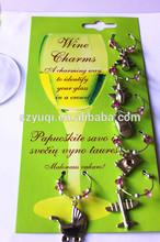 unique promotional popular wine charm packaging accept OEM design