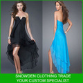 New Style Strapless mangas tornozelo comprimento simples vestido de baile