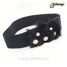 Wholesale fancy wide belts new style knitted belt fashion women belts with crystal