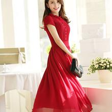 C84061A Lady Maxi chiffon dress,princess lady long dress,long chiffon dress