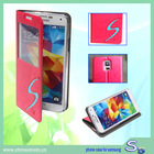2014 New design flip mobile phone leather case cover for samsung galaxy S5