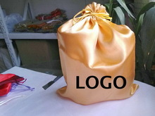 Design professional cheap polyester satin pouch