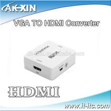 2014 High Quality mini s-video VGA rca to HDMI Converter box supplier in China