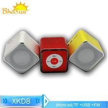 Portable mini acoustics TF/USB speakers subwoofer FM radio mp3 phone outside put small speakers
