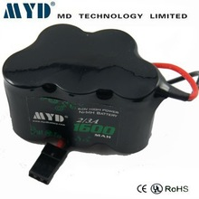 High drain battery 10C Nimh 2/3a battery 6V 1600mAh for Power tools