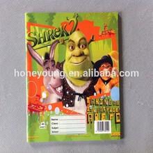 custom student exercise book with cartoon artwork