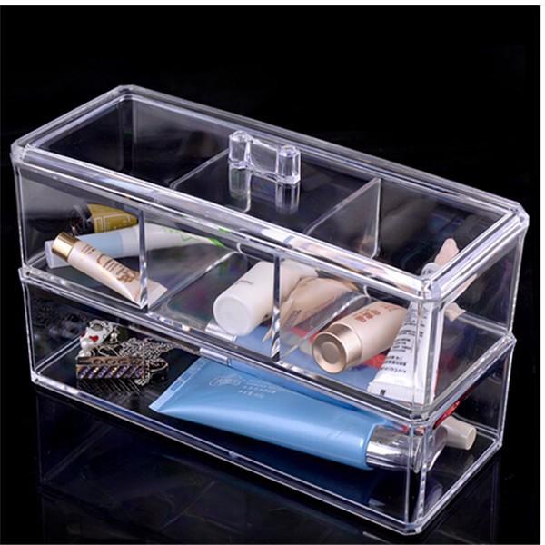 Transparent acrylique maquillage organisateur stockage - Rangement maquillage acrylique transparent ...