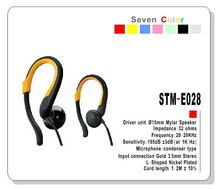 sports earphones with hook novelty gift item