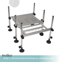 cheap aluminium beach trolley cart with platform made in China