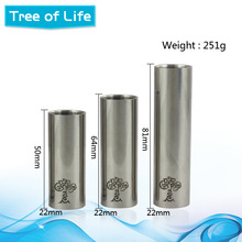 Ecig 26650 mod rba tree of life mechanical mod spring-loaded bottom-firing switch
