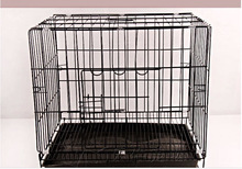 Lager steel wire dog cage