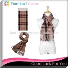 men striped knit scarf, men polyester wool fashion warm scarf