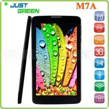 Multi function tablet! 7 inch M7A MTK8382 ARM Cortex-A7 Quad-Core 512MB/8GB Dual Camera Dual SIM support WiFi/bluetooth/GPS