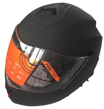 Double visor motorcycle flip up helmet