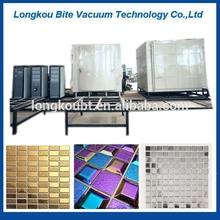 Bathroom ceramic wall tiles gold blue silver color plating machine/Porcelain mosaic tile decorative color film coating machine