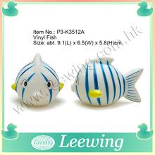 De goma de los niños seguros de baño plástico de juguete de pescado