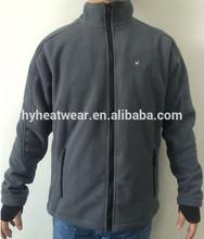 Chegada nova moda eléctricos aquecidos velo jacket/o velo roupas/aquecida casaco de lã homem