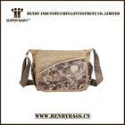 2014 new designs canvas shoulder bag for student