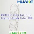 Cor dinâmica perseguindo seqüenciamento de mudança de cor sonho digitais RGB luz de tira