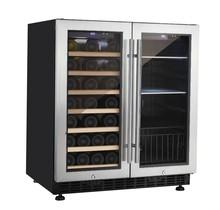 New household appliance 66 bottles side by side mini fridge beer cooler+beverage cooler for European&Latin American market