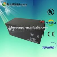 Bluesun SGS Certificate 24v 200ah rechargeable lead acid battery