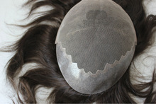 Elegant Wig Factory Price Indian Remy Hair Piece Bleached Knots Toupee For Black Men