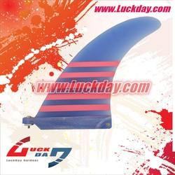 Blue fiber glass Longboard,SUP Fins