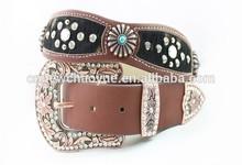 Ladies magic belt Real leather rhinestone belt